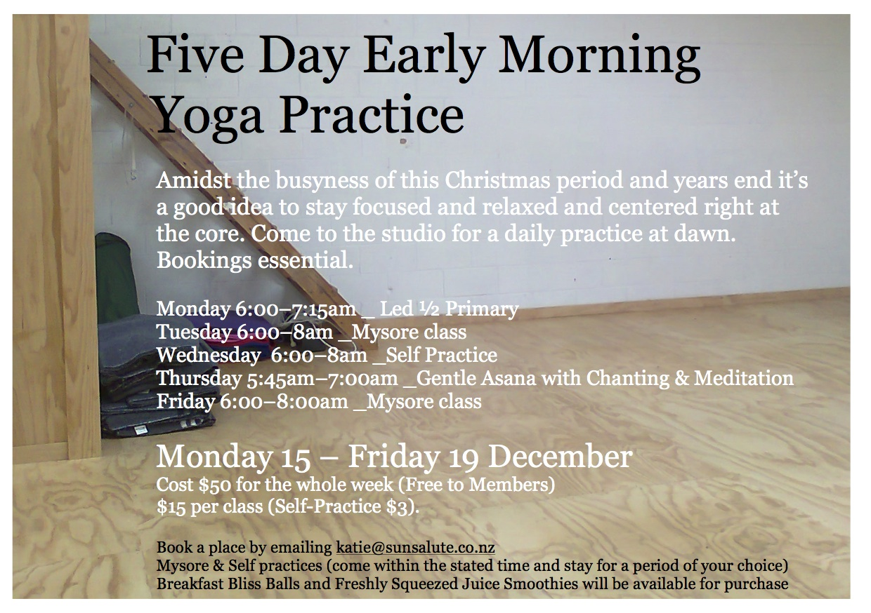 A Five Day Early Morning Yoga Practice